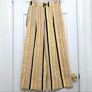 Zara   Wide Leg Cropped Pants